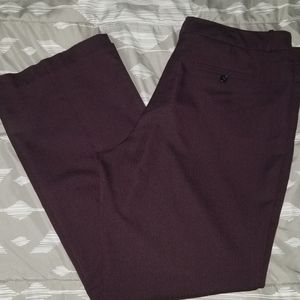 2/$30 Burgundy Worthington Dress slacks w/crease